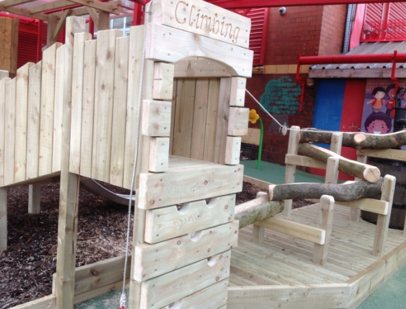 Free Standing Climbing Structure on Soft Play