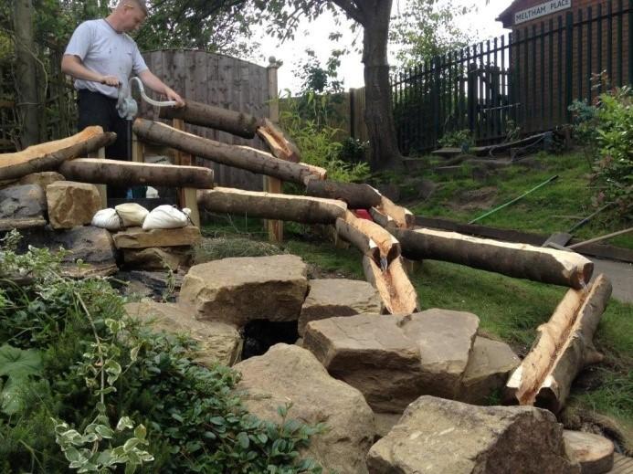 Log Flume & Water Fall